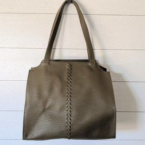 Universal Thread Olive Green Faux Leather Satchel